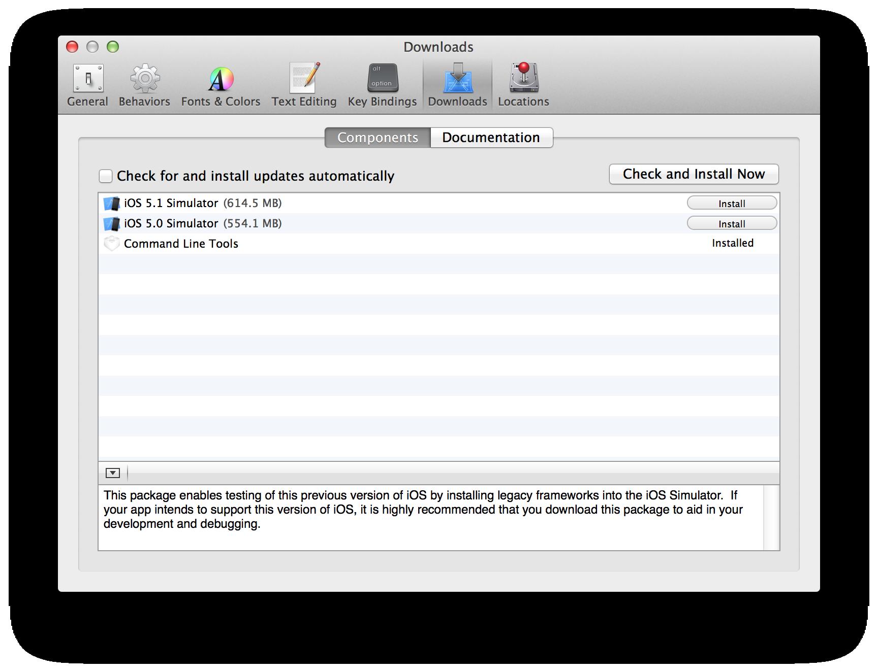 Xcode deployment: The dvtdownloadableindex and iOS Simulators/SDKs
