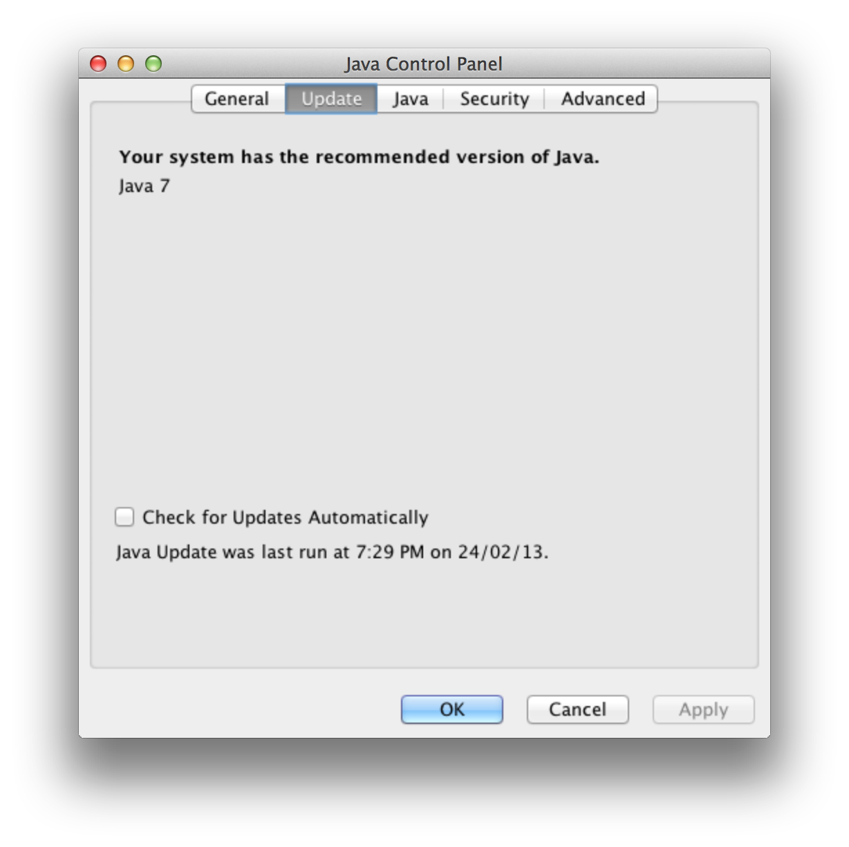 Java For Oracle Mac