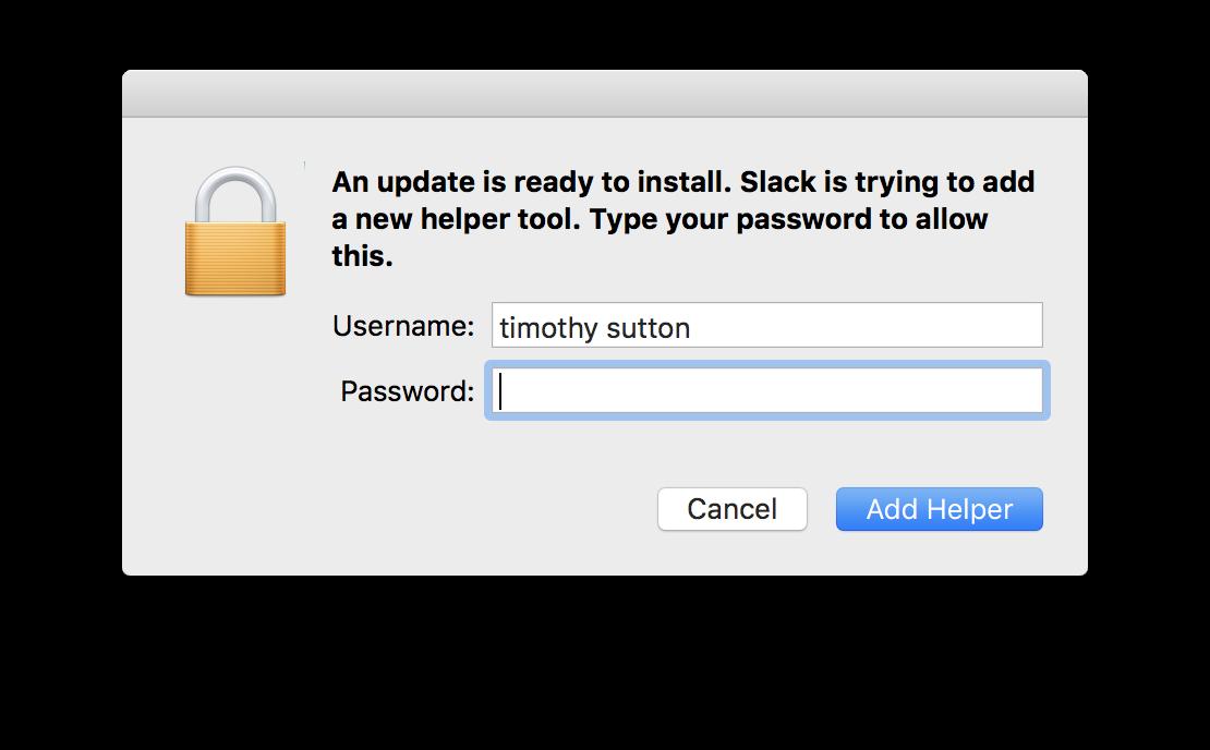 Squirrel Updates, the Slack Mac App and User Environment